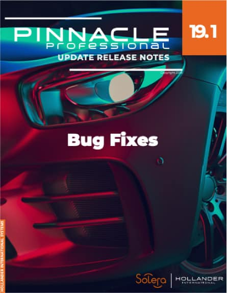Pinnacle Professional V19.1 bug fixes