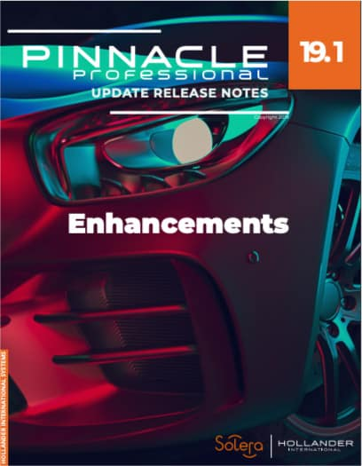 Pinnacle Professional V19.1 Enhancements release notes